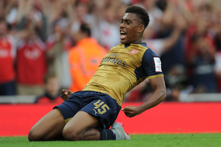 Teen star Alex Iwobi scored on his first start for Arsenal in their important 2-0 Premier League victory over Everton at the weekend